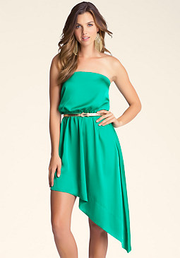 bebe Michelle Asymmetrical Dress
