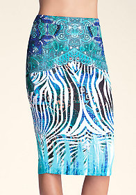 Midi Scuba Skirt at bebe