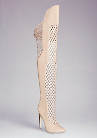 bebe Harley Crochet Knee Boot