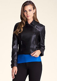 bebe Quilted Leather Jacket