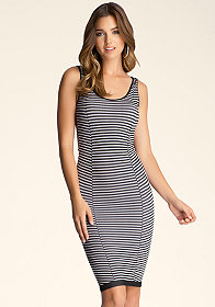 bebe Stripe Tank Dress