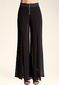 Sheer Wide Leg Pant at bebe