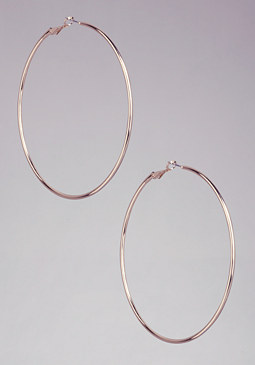 bebe Basic Hoop Earrings