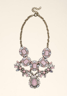 bebe Oversized Stone Necklace