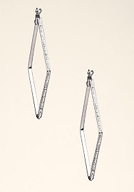 DIAMOND DROPDOWN EARRINGS at bebe