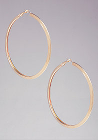 Basic Metal Hoops at bebe
