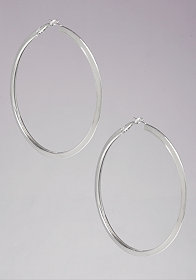 Metal Hoop Earrings at bebe
