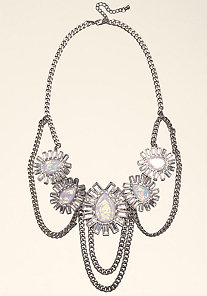 STONE & CHAIN NECKLACE at bebe
