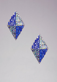 bebe Multi-colored Stud Earring