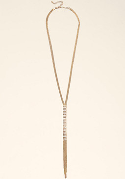 bebe Long Lariat Necklace