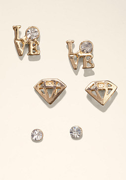 bebe Stud Diamond Earring Set