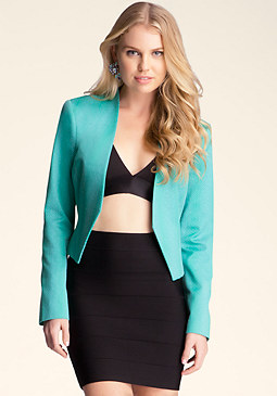 bebe Hi Lo Shawl Collar Jacket
