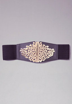 bebe Medallion Stretch Belt