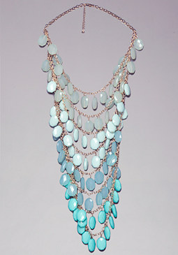 bebe Beaded Ombre Necklace