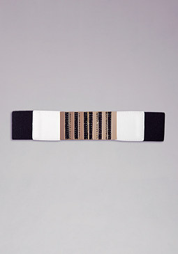 bebe Crystal Stones Belt