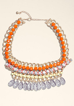bebe Multi-Row Mixed Necklace
