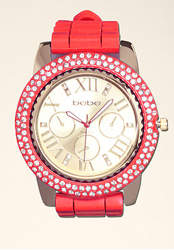 bebe Gel Rubber Strap Watch