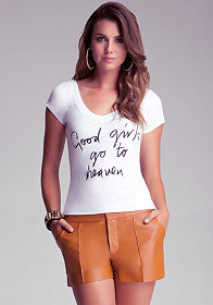 Bad Girls V Neck High Low Top at bebe