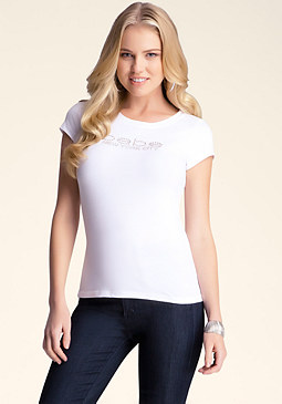 bebe Logo Basic New York Tee