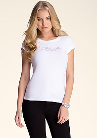 bebe Logo Hollywood Crew Tee
