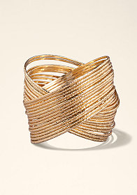 bebe Interlocking Bangle Set �