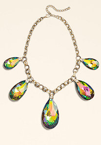 Stone Statement Necklace at bebe