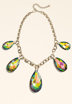 bebe Iridescent Gems Necklace