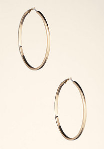 Large Basic Hoops at bebe