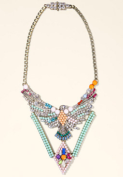 bebe Colorful Crystal Necklace