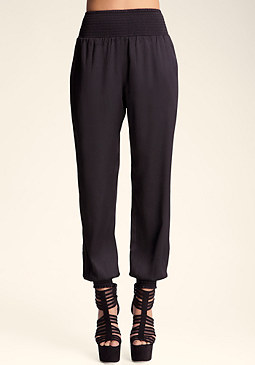bebe Smock Top Casual Pant