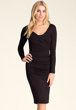 Surplice Midi Dress at bebe
