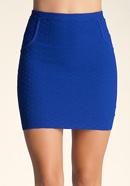 bebe Basketweave Stitch Skirt