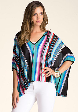 STRIPED KAFTAN SWEATER at bebe