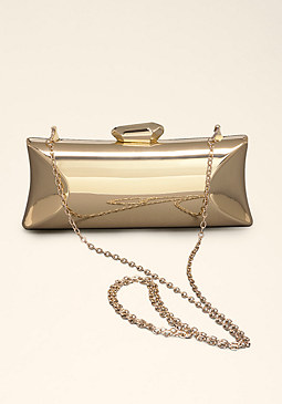 bebe Mirrored Metal Minaudiere