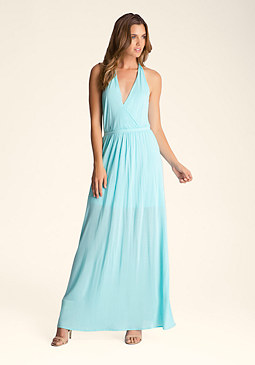 bebe Open Back Maxi Dress