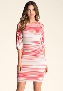 MELANIE STRIPED DRESS at bebe