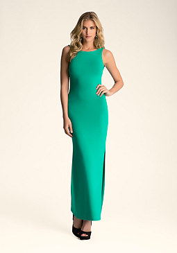bebe Open Cowl Back Maxi Dress