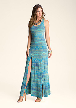 bebe Scoop Neck Maxi Dress