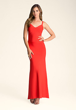 BODYCON MAXI DRESS at bebe