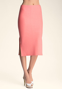 bebe Double Side Slit Maxi Skirt