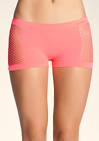 bebe Stretch Mesh Hot Short