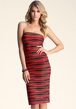 Strapless Midi Dress at bebe
