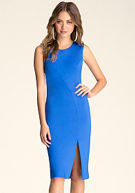 bebe High-Slit Midi Dress