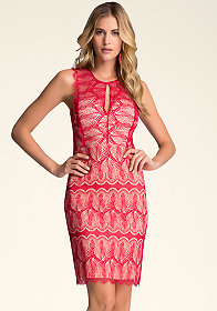 bebe Lace Paneled Dress