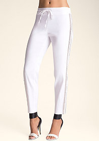 bebe Embellished Trouser Pants