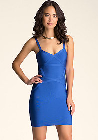 Cutout Bandage Dress at bebe