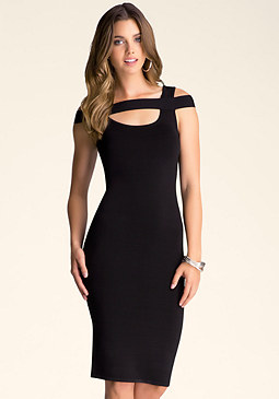 bebe Horizontal Band Dress