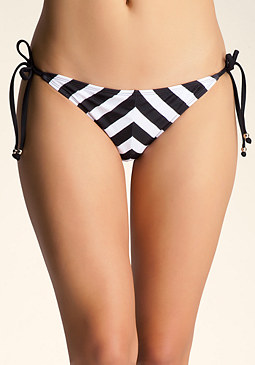 bebe Striped Swim Bottoms