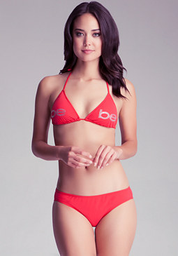 bebe bebe Logo Triangle Swim Top