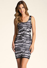 bebe Cutout Space Dye Dress